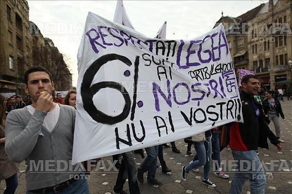 STUDENTI - PROTEST - TIMISOARA - 2013